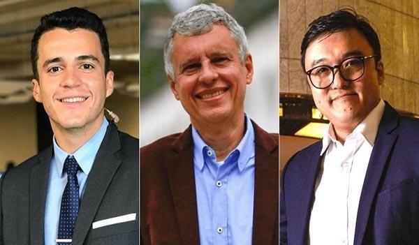 Fernando Molica, Anthony Wells e Fernando Nakagawa: novos contratados da CNN