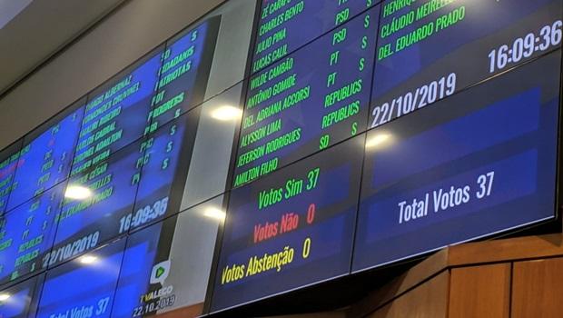 Antecipação da eleição da mesa diretora da Assembleia é aprovada em definitivo