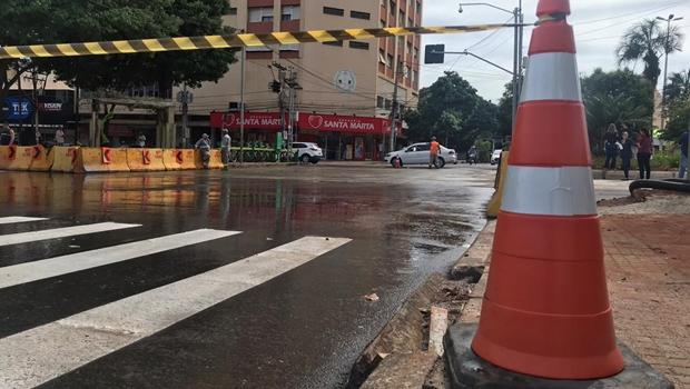 Prefeitura anuncia bloqueio no cruzamento da Avenida Goiás com Independência a partir de segunda
