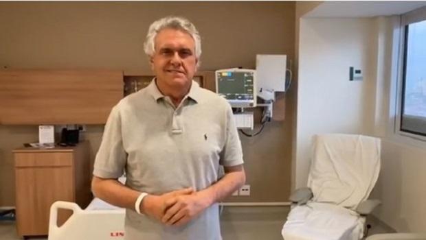 Caiado agradece em vídeo o apoio e orações pela sua saúde