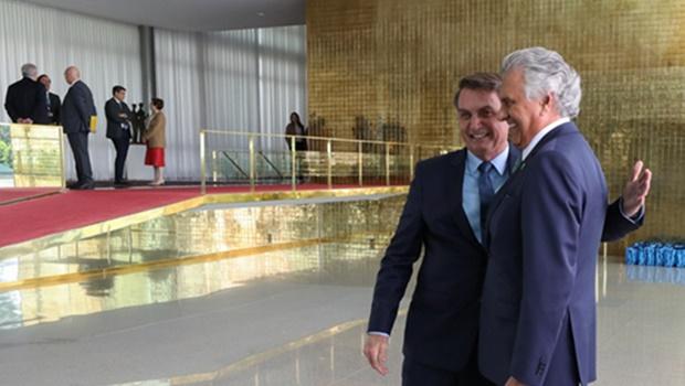 Bolsonaro destaca parceria com Estado de Goiás em cerimônia de 400 dias de gestão
