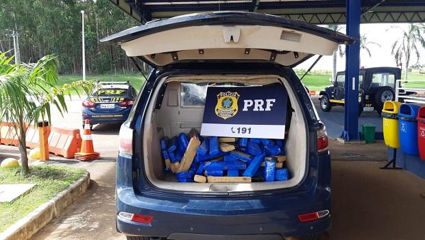 PRF prende dois homens com 100 quilos de maconha na BR-060