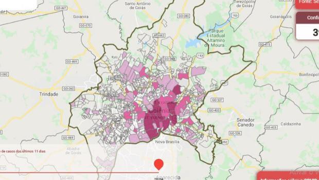 Apenas 15% dos bairros de Goiânia ainda não registraram casos de Covid-19