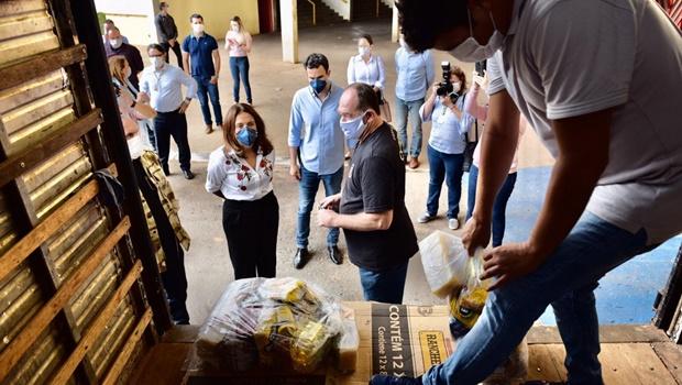 Governo estadual inicia distribuição de cestas básicas a municípios do interior