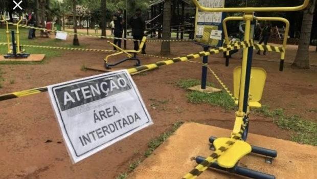 Para garantir distanciamento social, MP recomenda marcação de espaço em parques