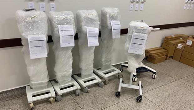 Equipamentos enviados ao HCamp de Luziânia pela SES-GO | Foto: SES-GO