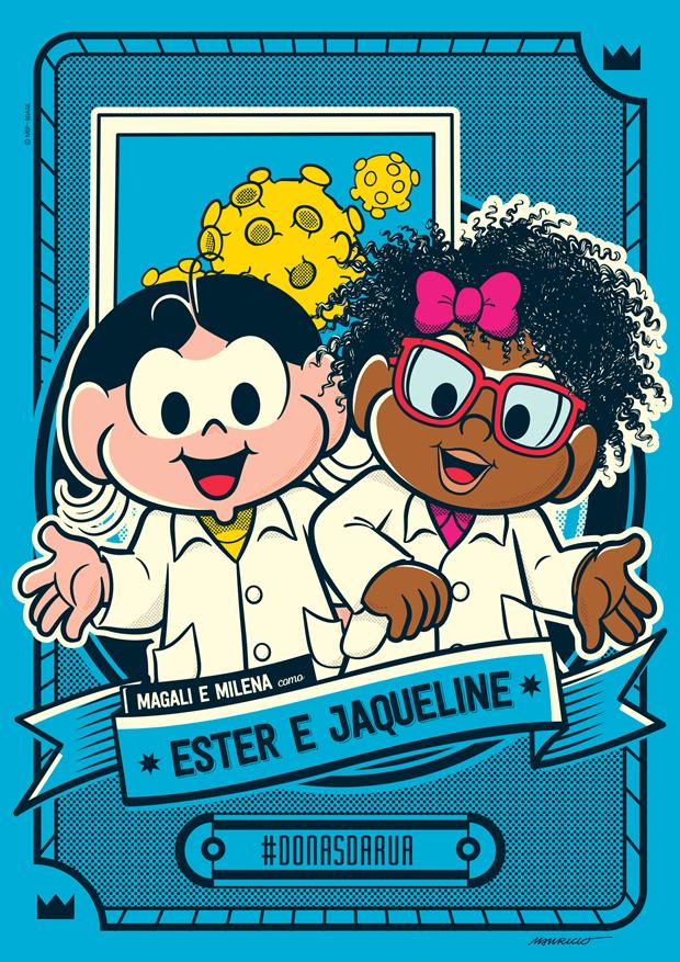 Ester e Jaqueline Goes 1 - Ilustração Turma da Mônica
