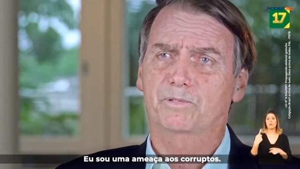 Jair Bolsonaro propaganda eleitoral 2018 ameaça aos corruptos segundo turno - Foto Reprodução Poder360
