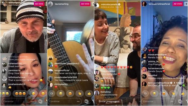 Lives no Instagram durante o isolamento - Fotos Reprodução Instagram
