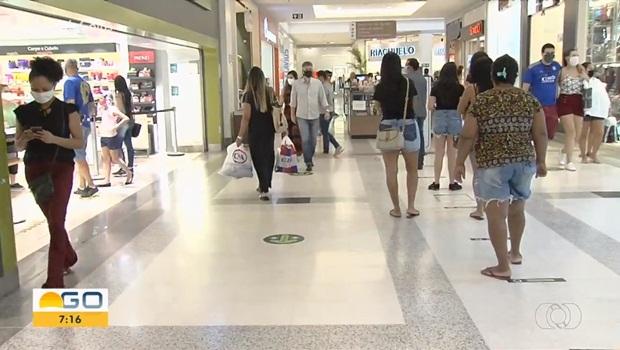 Shoppings reabertos Aparecida de Goiânia 3 - Foto Reprodução TV Anhanguera