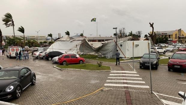 Três pessoas morrem em ciclone-bomba, em Santa Catarina