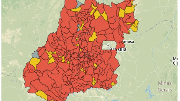 Dos 246 municípios goianos, apenas três não possuem casos confirmados de Covid-19