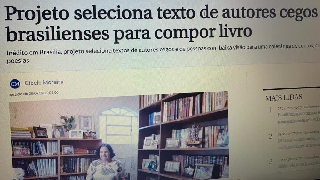 Projeto de Brasília vai publicar contos, crônicas e poesia de escritores cegos e com baixa visão