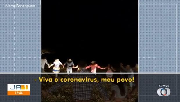 Thiago Maggioni vereador Jataí viva o coronavírus meu povo - Foto Reprodução TV Anhanguera