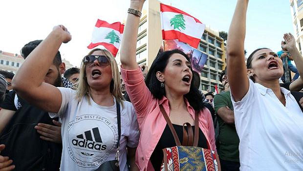 Polícia libanesa entra em confronto com manifestantes em Beirute