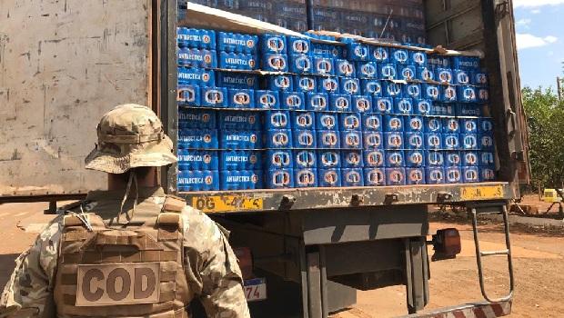 Carga ilegal de cerveja avaliada em R$ 200 mil é apreendida no sudoeste de Goiás