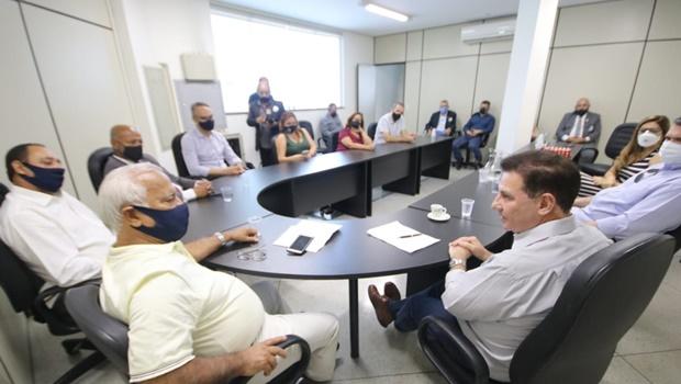 Em encontro com Vanderlan, representantes da Segurança Pública pedem aproximação do município e polícia