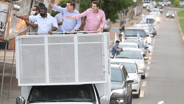 Em carreata, candidato a prefeito de Goiânia Vanderlan Cardoso percorre Região Noroeste da capital