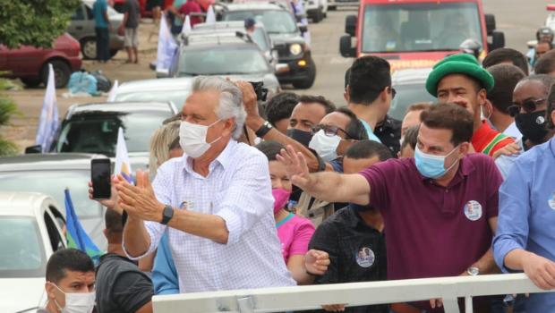 Vanderlan Cardoso encerrará campanha para 1º turno com carreata ao lado de Caiado