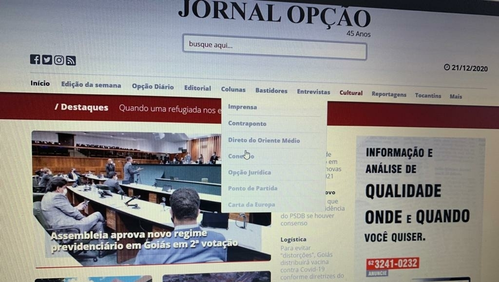 Aos 45 anos, o Jornal Opção muda, mas não perde sua identidade analítica
