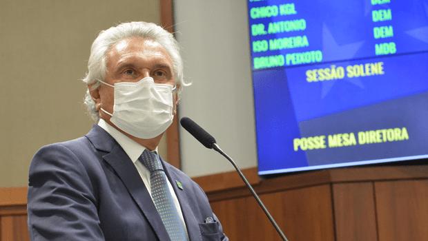 """""""Jamais quebrarei o plano nacional de imunização"""", diz Caiado"""