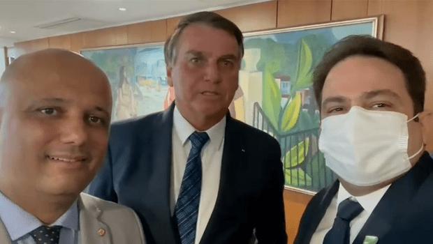 Roberto Naves se reúne com Jair Bolsonaro em Brasília