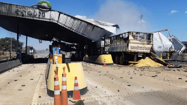 Polícia investiga motivos do acidente que matou 4 e destruiu praça de pedágio em Campo Alegre