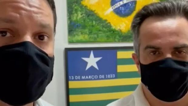 """Vamos ajudar Bolsonaro a levar vacina para todo país"", diz Ciro Nogueira ao lado de Baldy"