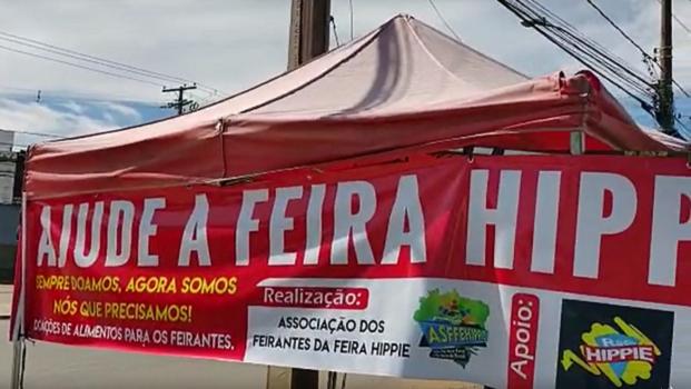 Feira Hippie realiza campanha para arrecadação de alimentos