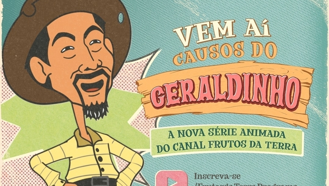 Geraldinho, Monteiro Lobato do povão, pode ser visto em desenho animado no YouTube