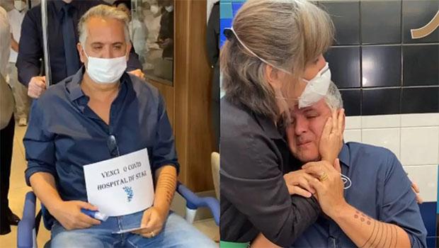 Orlando Morais recebe alta e se emociona ao deixar hospital