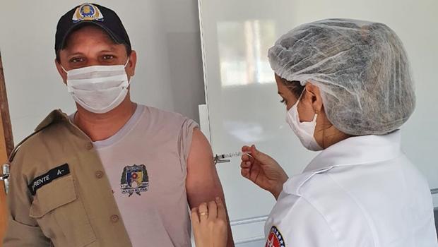Forças de Segurança começam a ser vacinadas contra a Covid-19 no Tocantins