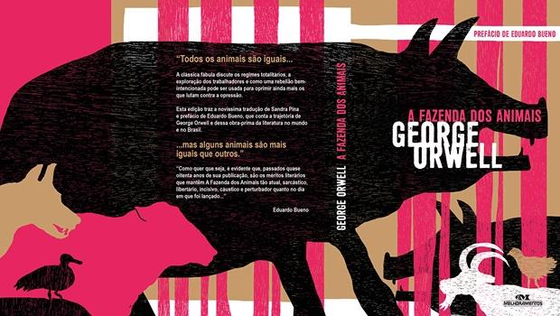"""""""A Fazenda dos Animais"""", de George Orwell, tem tradução inédita de Sandra Pina e prefácio de Eduardo Bueno"""