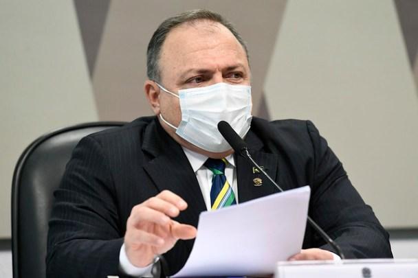 Eduardo Pazuello, ex-ministro da Saúda na CPI da Pandemia