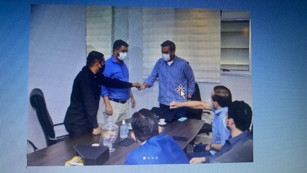 Gustavo Mendanha recebe a visita do presidente e do vice-presidente da Câmara de Anápolis