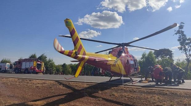 Homem fica gravemente ferido em capotamento na BR-153