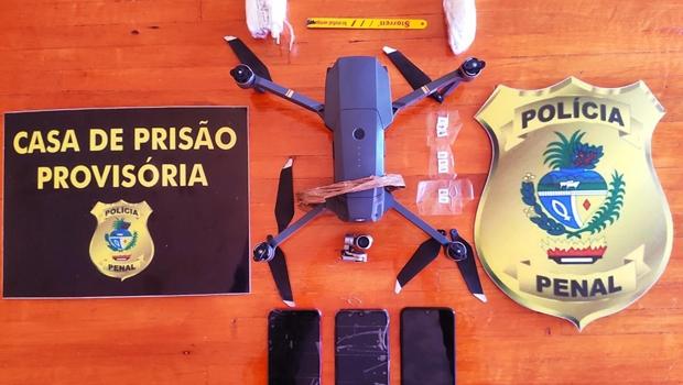 De fevereiro a julho deste ano, 17 drones foram interceptados no Complexo Prisional de Aparecida de Goiânia