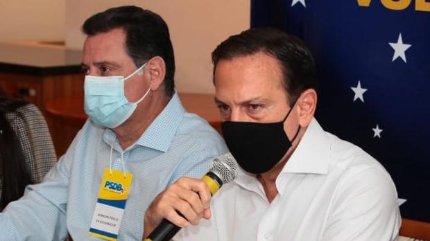 """""""Outros partidos certamente desejarão compor para ficar distante dos extremos"""", diz Dória durante passagem por Goiânia"""