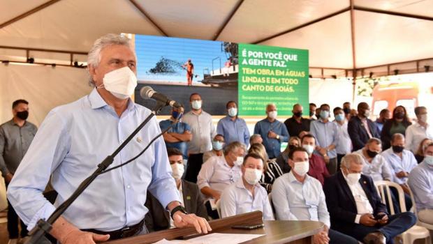 Caiado anuncia retomada de obras do Hospital Estadual de Águas Lindas de Goiás