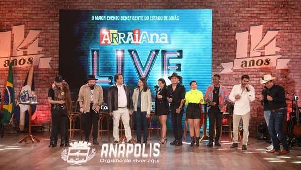 Anápolis arrecada 300 toneladas de alimentos pelo Arraiana Live