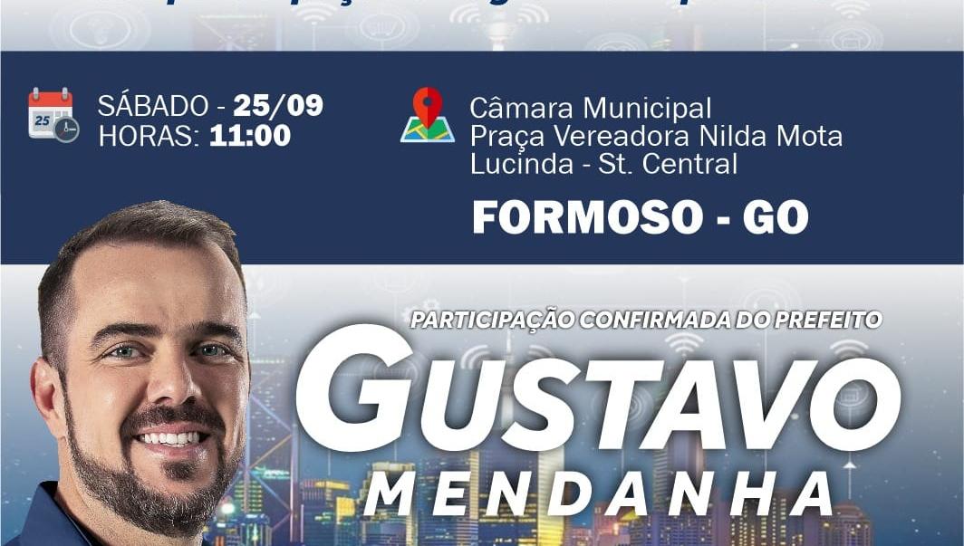 Gustavo Mendanha pode estar fazendo campanha eleitoral extemporânea no interior