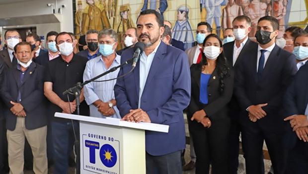 """Wanderlei Barbosa assume governo de Tocantins afirmando que dará seguimento aos """"projetos importantes"""""""