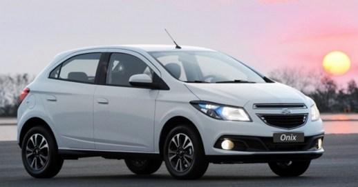 GM Onix carros mais vendidos no Brasil