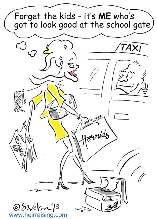 Plummy Mummy and taxi