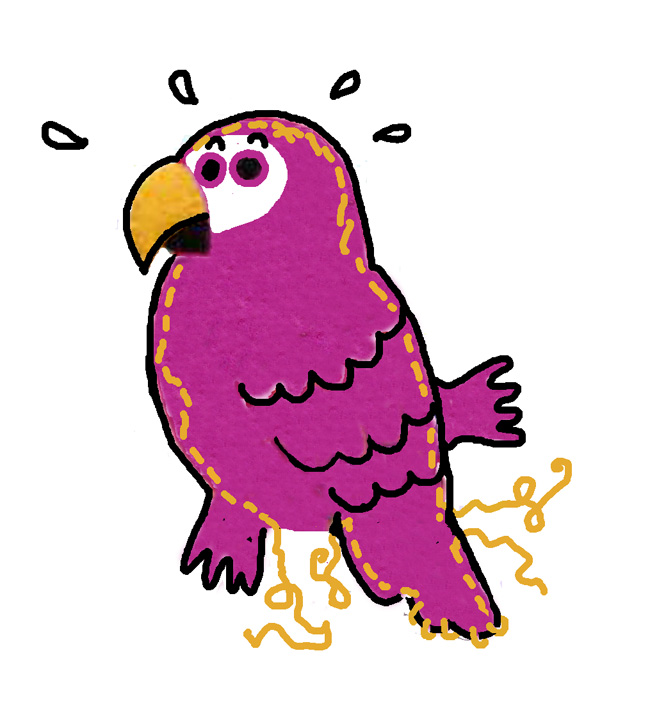 Felt parrot