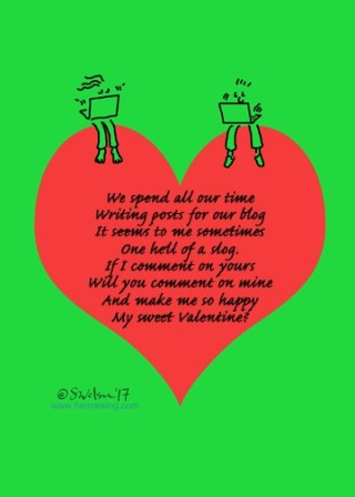 Commenting Valentine card