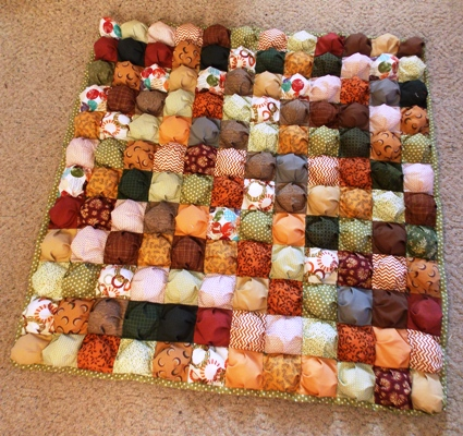 """A Friday Finish: The """"Puff"""" Quilt 