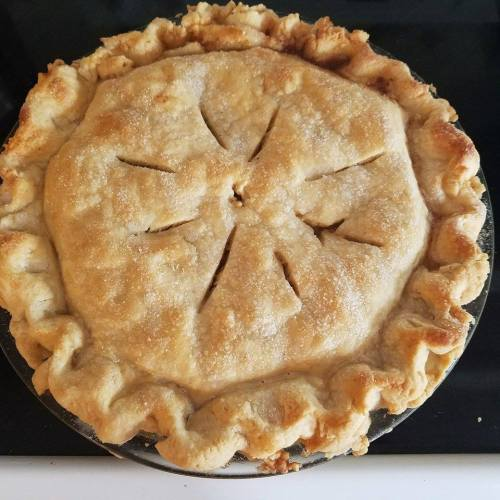 recipe: zucchini apple pie. [29]