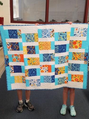 blue.orange quilt