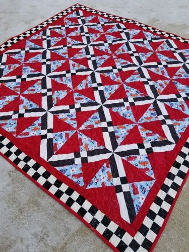 Quilt Finish Baby Fireman Quilt